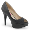 CHLOE-01 Black Faux Leather